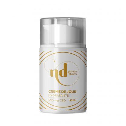 Crème de jour hydratante à base de CBD